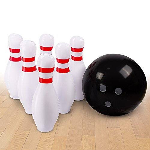 Inflatable Bowling Ball Set Ideal Fun Game For Kids Adults Family