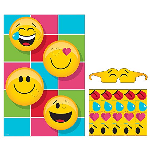 Creative Converting 329376 Pin The Emoji Party Game Show Your Emojions