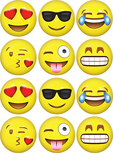 Emoji Inflatable Beach Balls 12 Pack By LiveEco