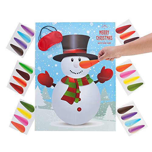 a1d8b3043b804 MISS FANTASY Christmas Party Games Activities Pin the Nose on the Snowman Xmas  Gifts for Kids New Year Decorations (Snowman)
