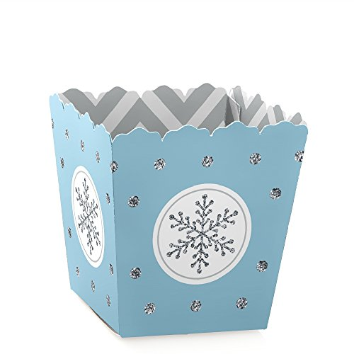 Winter Wonderland - Candy Boxes Snowflake Holiday Party & Winter Wedding Favors (Set of 12)