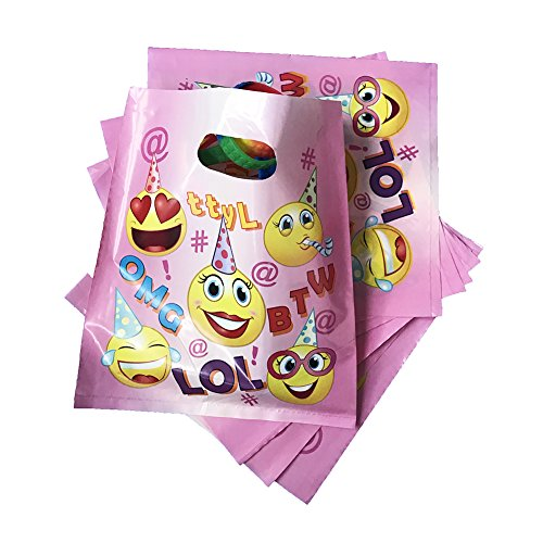 Pink Emoji Treat Bags For Girls Birthday Party Favors 36pcs